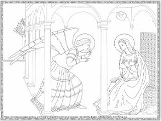Annunciation Coloring Page