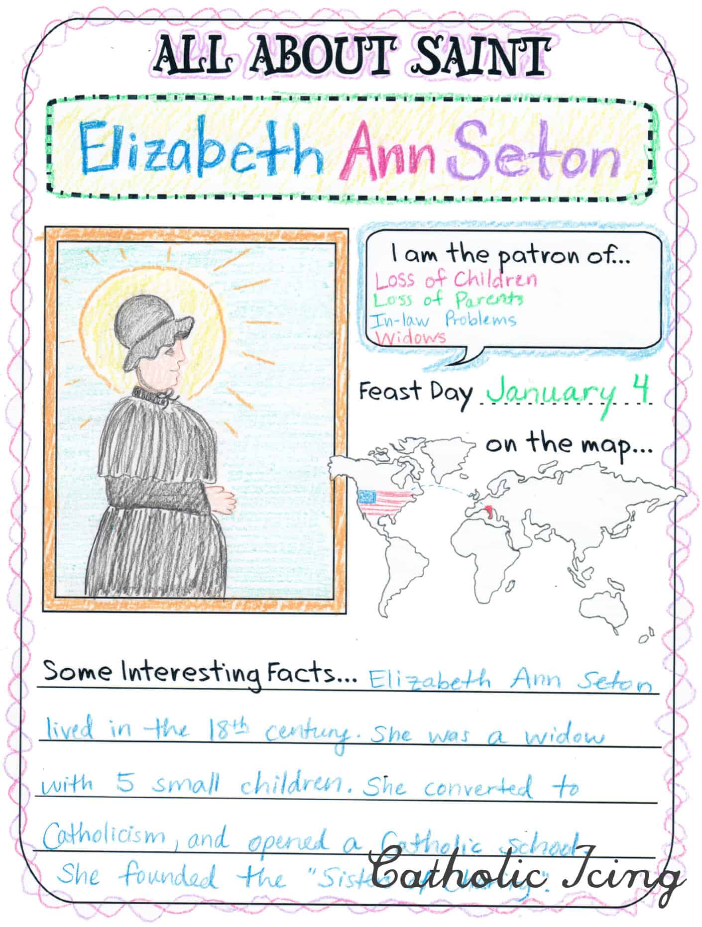 Saint Crafts Printables Activities And More For Catholic Kids