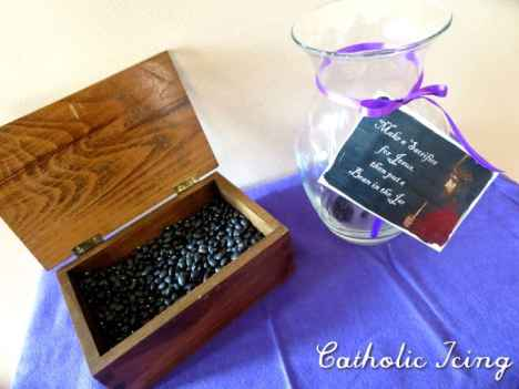 sacrifice bean display for lent