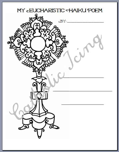 Write A First Communion Poem- Printable Template Available!