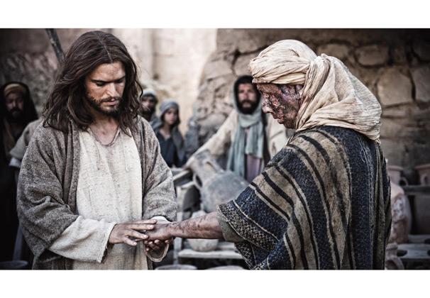 Jesus heals leper