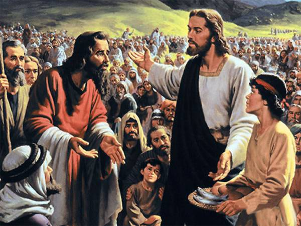 Jesus feeding the 5000
