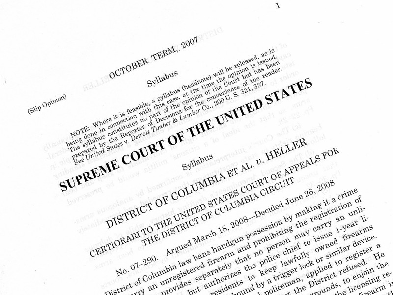 The Supreme Court on the Right to Keep and Bear Arms
