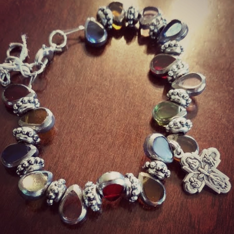 The Four Way Cross bracelet found at Catholic Mommy Blogs