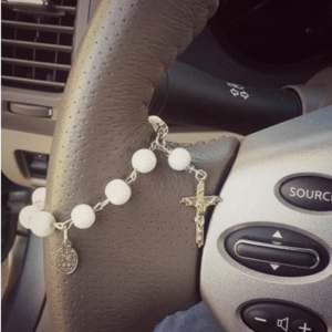 Traveling rosary for car