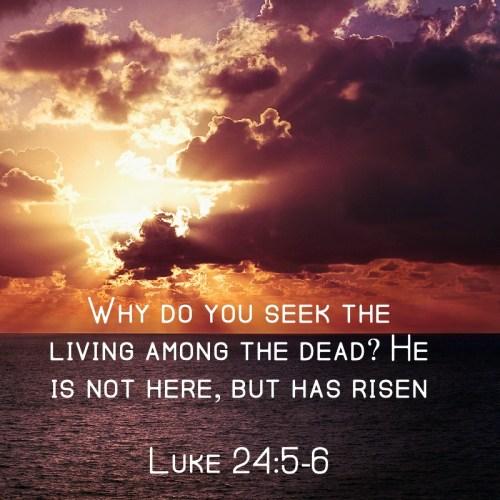 Jesus is risen, Easter, scripture