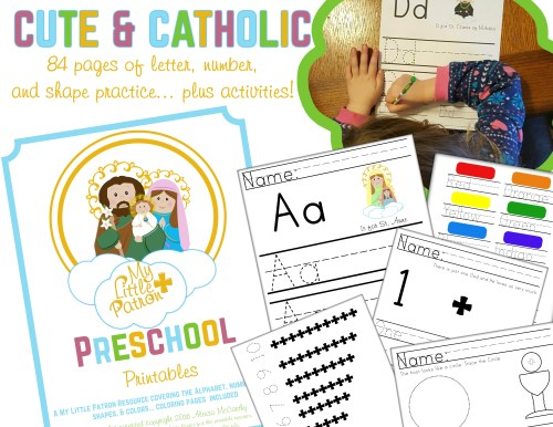 Catholic Preschool Printables