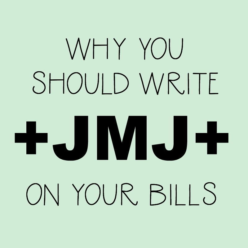 Why You Should Write +JMJ+ on Your Papers