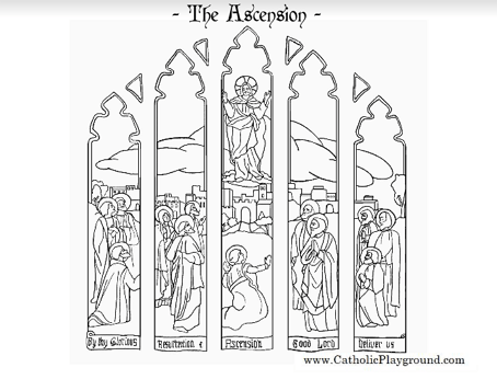Feast of the Ascension coloring page