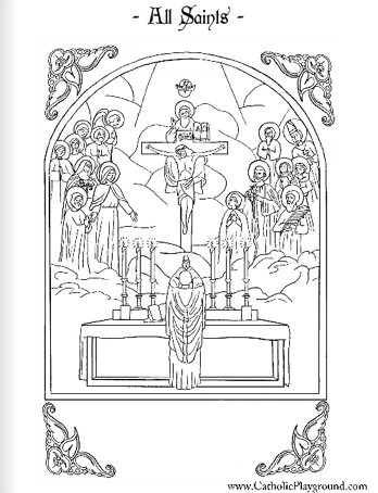 Communion Of Saints Coloring Page Coloring Pages