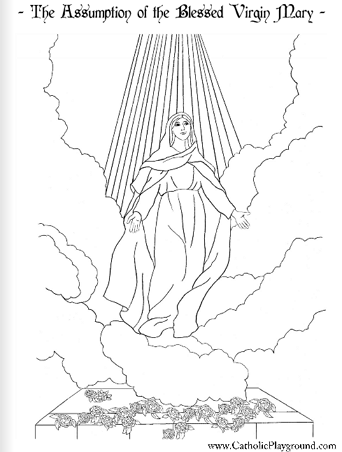 Feast of the Assumption Coloring Page: August 15th