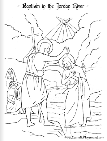 Baptism of the Lord coloring page: January 9th
