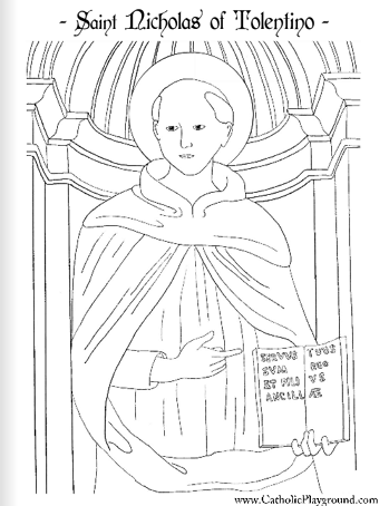 St. Nicholas Day Coloring Pages