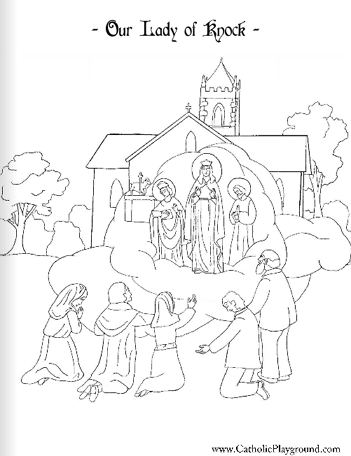 Our Lady of Knock coloring page: August 21st