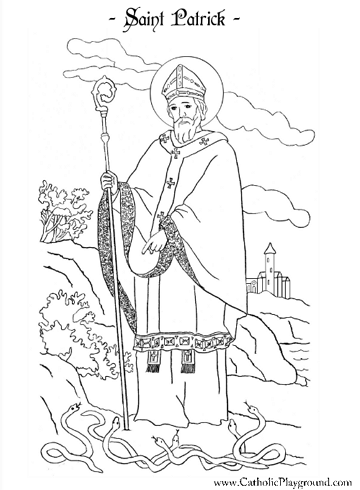 Saint Patrick coloring page: March 17th