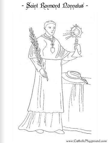 Saint Raymond Nonnatus coloring page: August 31st