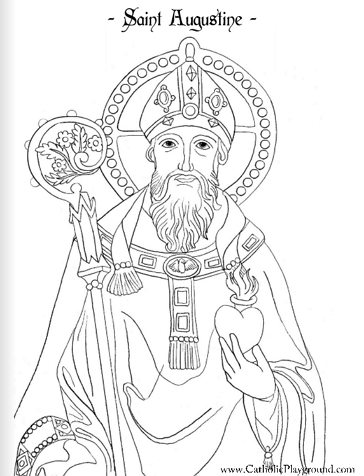 Saint Monica coloring page: August 27th