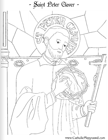 Saint Peter Claver coloring page: September 9th