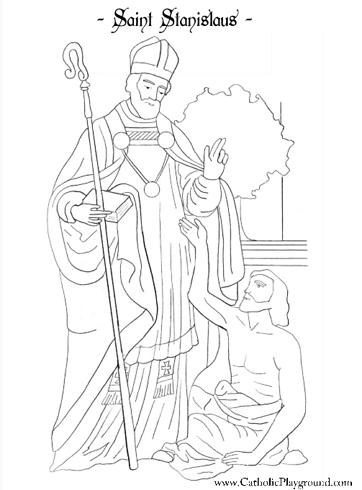 Saint Stanislaus coloring page: April 11th
