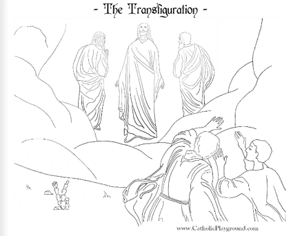 Transfiguration coloring page: August 6th