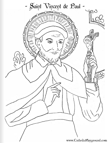Saint Vincent de Paul coloring page: September 27th