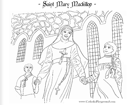 Saint Mary Mackillop Coloring Page: August 8th