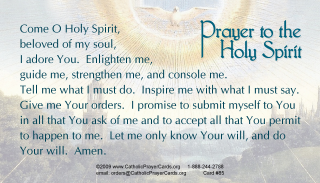 Image result for prayer to the holy spirit catholic