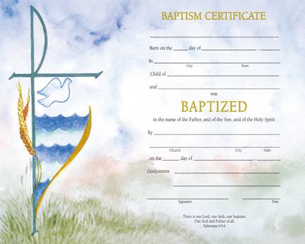 Baptism Certificate Watercolour 50box MPNXD102