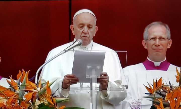 "POPE FRANCIS 2019 ""URBI ET ORBI"" MESSAGE: ""Christ is alive! He is our hope, and in a wonderful way he brings youth to our world."