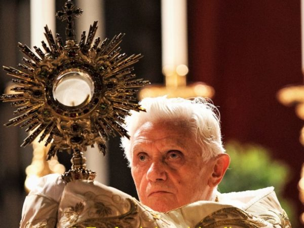 POPE BENEDICT XVI ON CORPUS CHRISTI. The Eucharist, a call to holiness and self-giving.