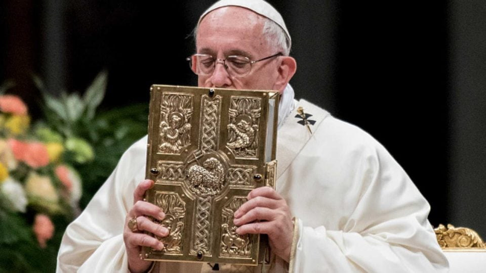 "POPE FRANCIS ESTABLISHES ""SUNDAY OF THE WORD OF GOD"" ON THE THIRD SUNDAY OF ORDINARY TIME."