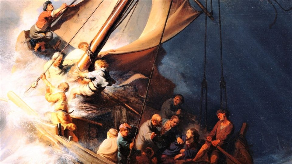 "DAILY MASS, GOSPEL AND COMMENTARY: CALMING OF THE STORM. ""Lord, save us! We are perishing!"" (Mt 8:23–27)."
