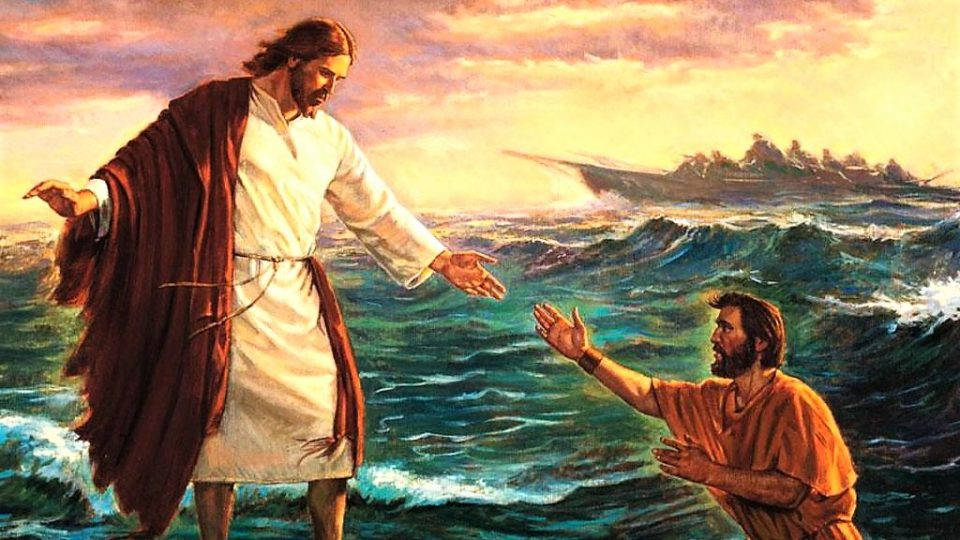 DAILY MASS, GOSPEL AND COMMENTARY: JESUS WALKS ON THE WATER  (Mt 14:22–36).