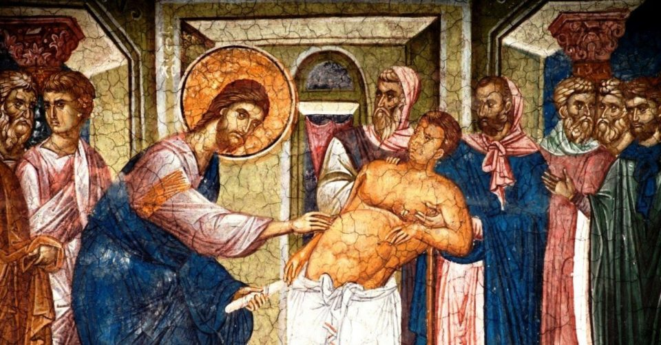 DAILY MASS, GOSPEL AND COMMENTARY. JESUS CURES A MAN WITH DROPSY ON SABBATH (Lk 14:1–6).