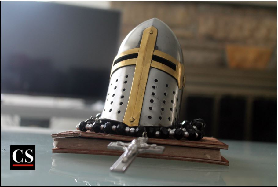 defend the truth, knight, soldier, church militant, soldier for christ