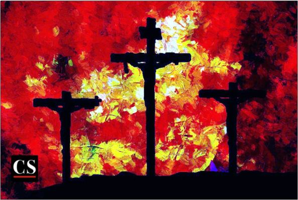 3 cross painting