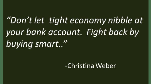 Christina Weber - Tough Economy