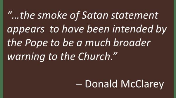 Donald McClarey - Smoke of Satan