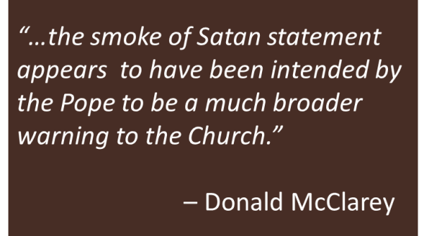 Donald McClarey - Smoke of Satan