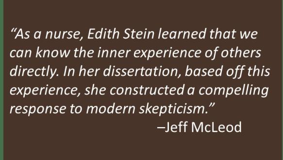 Jeff McLeod - Edith Stein