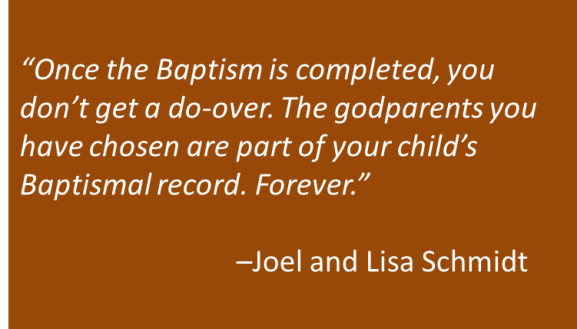 Joel and Lisa Schmidt - God Parents