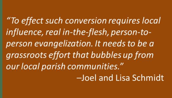 Joel and Lisa Schmidt - Parish Change