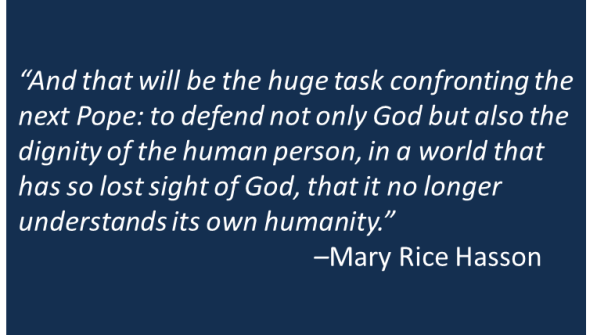Mary Rice Hasson - Pope Resignation