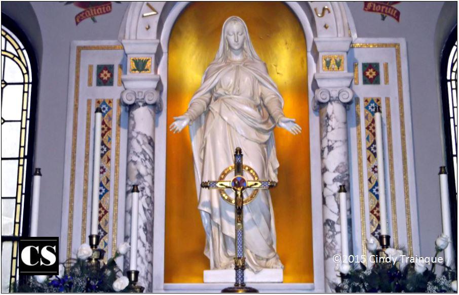 mary, jesus, cross, marian, altar