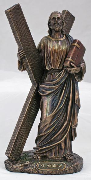 85 St Andrew Statue Bronzed Resin  64151