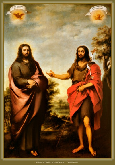 Image result for john the baptist and st. john the divine painting