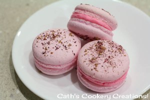 Rose Macarons from Cath's Cookery Creations! @CathsCookery