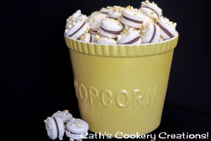 Popcorn and Malteser Macarons from Cath's Cookery Creations! | www.cathscookerycreations.com