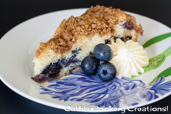 Blueberry Crumble Cake from Cath's Cookery Creations! | www.cathscookerycreations.com