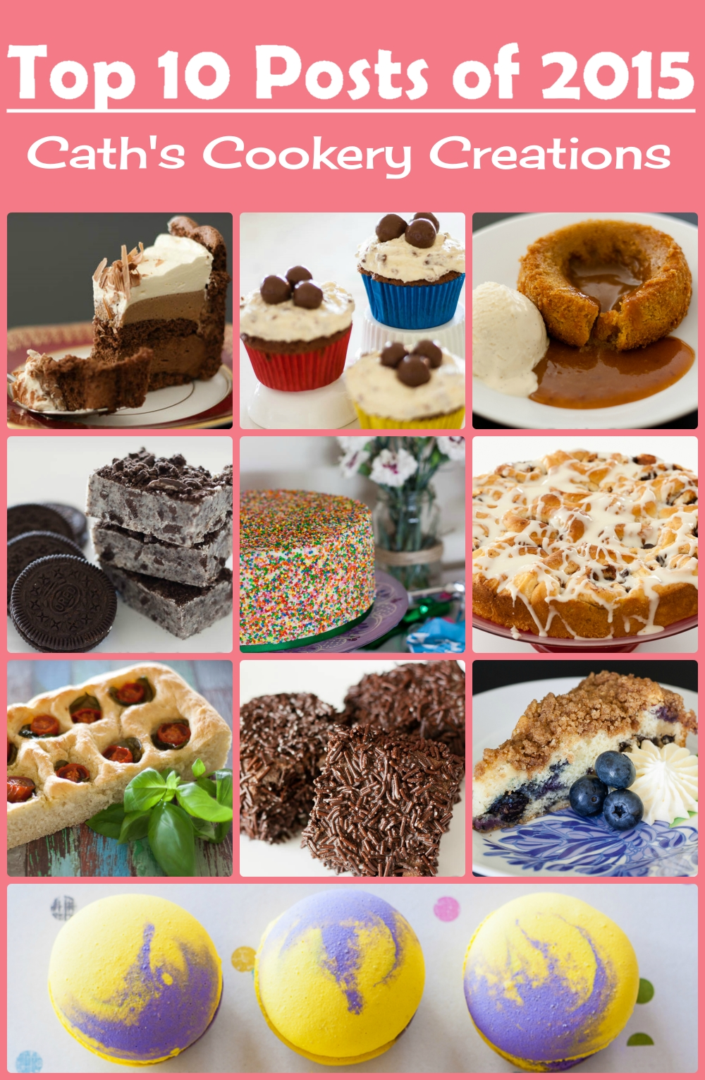 Top 10 Posts of 2015 from Cath's Cookery Creations! | www.cathscookerycreations.com